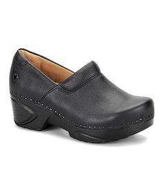 Another great find on #zulily! Black Leather Chloe Clog #zulilyfinds