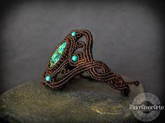 NEW Chrysocolla Macrame bracelet. Communication by MacrAmorArt