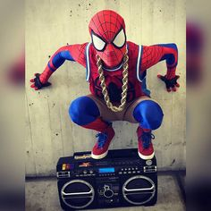 Set some goals. Don't tell anyone.  Kill the hell out of those goals. Give it up for your own dam self.   #hiphopspidey #spiderman  #cosplay #love #positive #comics #fresh #marvelcosplay #motivation #Marvel #superhero #nerd #f4f #hiphop #peace  #bboy #NYCC #sneakerhead #goodvibes #art #cosplayer  #create #Spiderverse #goals #fun #kicks #grind #dowork #motivate #NYCC2017