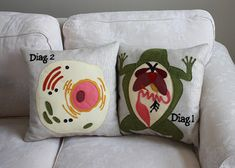 Animal Cell Pillow and Frog Dissection Pillow #biology