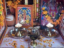 Home Altar Hindu A family altar in india. Jar Spells, Sweet Jars, Common Prayer, Home Altar, The Tabernacle, Om Namah Shivaya, Gods And Goddesses, Magick, Witchcraft