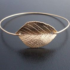 Leaf Bracelet Gold Plated Leaf Charm Leaf Jewelry Nature Jewelry for Women Fall Wedding Jewelry Fall Bridesmaid Gift Leaf Bangle Bracelet - Beautiful Jewelry Leaf Jewelry, Fall Jewelry, Jewelry Box, Jewelry Accessories, Jewelry Design, Jewelry Making, Simple Jewelry, Jewlery, Simple Rings