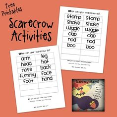 Scarecrow Games From The Educators Spin On It TeachersNotebook 2 Pages