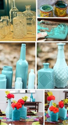 "We saw tons of vases in this ""Tiffany's blue"" at the New York gift show! Love it."