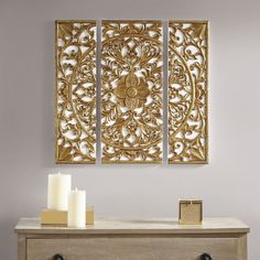 Wall Decor Set, Metal Wall Decor, Wall Art Sets, Room Decor, Gold Metal Wall Art, Wooden Decor, Fabric Wall Decor, Medallion Wall Decor, Gold Medallion