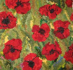 pictures of red poppies hooked rugs Rug Hooking Designs, Rug Hooking Patterns, Doll Patterns, Poppy Pattern, Latch Hook Rugs, Red Pictures, Rug Inspiration, Hand Hooked Rugs, Penny Rugs