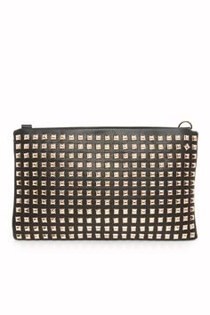 ShopSosie Style : Endless Studs Purse in Black