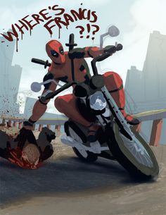 #Deadpool #Fan #Art. (Where's Francis!!!) By: Forrestimel. ÅWESOMENESS!!!™ ÅÅÅ+