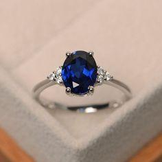 Sapphire engagement ring blue sapphire engagement by LuoJewelry #DazzlingDiamondEngagementRings