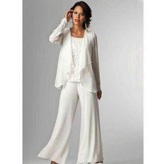 00a52e381d Chiffon Lady Mother Pants Suits Evening Dress Party Mother Of The Bride  Dress pant Suit Gowns