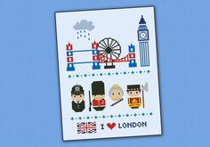 London icons  Mini people around the world  PDF by cloudsfactory, $8.00