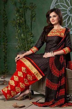Monica Bedi Patiala Style Cotton Suit