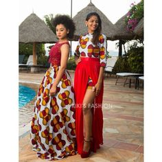 Red with prints by kiki's fashion!