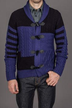 X-RAY JEANS Color Block Toggle Sweater