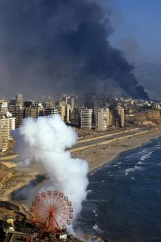 Israel's bombardment of west Beirut, 1982.