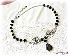 Colier choker cu onix fatetat negru Beaded Necklace, Chokers, Jewelry, Fashion, Jewellery Making, Moda, Jewerly, Pearl Necklace, Jewelery