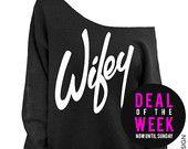 Wifey  - Black Slouchy Oversized Sweatshirt