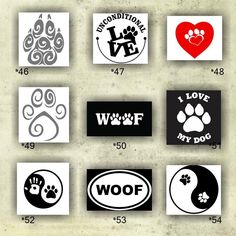 PAW PRINT Vinyl Decals Vinyl Stickers Paw Prints - Window decal custom vinyl