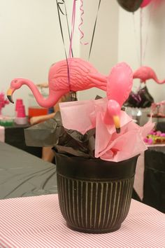 Sophie's Flamingo Pool Party