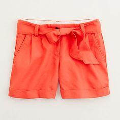poppy linen bow shorts | j.crew
