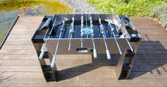 RAWWW!!! IRONSTRIKER kicker table manufactured by MWE / Massive masterpiece designed by Mario Wille / www.ironstriker.de