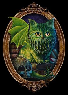 Cthulhu T-Shirt by MoniWolf. Cathulhu is Hp Lovecraft's Cthulhu as a cat or a cat as Cthulhu. Cthulhu Tattoo, Cthulhu Art, Lovecraft Cthulhu, Hp Lovecraft, Call Of Cthulhu, Lovecraftian Horror, Eldritch Horror, Arte Horror, Mythical Creatures