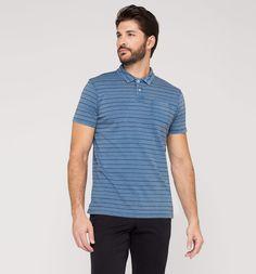 Poloshirt aus Bio-Baumwolle in blau-melange