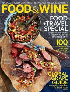 TWX Food&Wine Magazine Cover: Food+Travel Special cover story - where to eat, drink and shop in 10 great American cities, TWX Magazine Cover. To contact TWX Magazine Customer Service by Phone about your Food & Wine magazine subscription: Food Design, Menu Design, Flyer Design, Layout Design, Tacos And Salsa, Drink Recipe Book, Food & Wine Magazine, Food And Travel Magazine, Mixed Grill