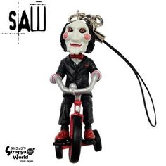 Strapya World : SAW Jigsaw Puppet Cell Phone Strap (Tricycle)