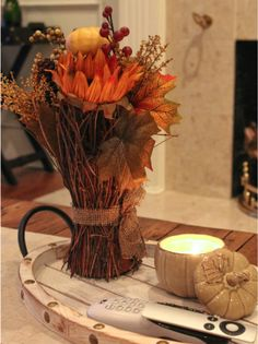 A few Autumn decorating ideas from Tuesday Morning. (I love that store. Thanksgiving Decorations, Seasonal Decor, Fall Decor, Table Decorations, Wood Picture Frames, Picture On Wood, Tuesday Morning Store, Autumn Decorating, Decorating Ideas