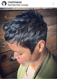 short black hairstyles 2019 - All For New Hairstyles Girls Pixie Haircut, Short Pixie Haircuts, Cute Hairstyles For Short Hair, Girl Haircuts, Black Women Hairstyles, Bob Hairstyles, Latest Hairstyles, Black Pixie Haircut, Sassy Haircuts