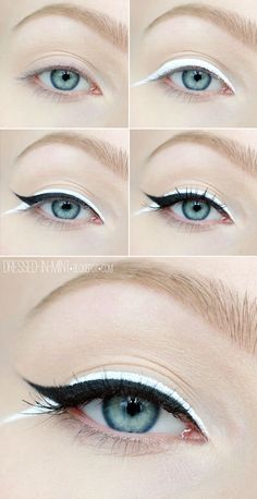 Step by step White Makeup eye-shadow tutorial
