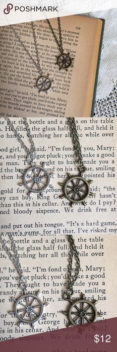 Bronze or Silver Ship Wheel Upon purchase, let me know if you would like bronze or silver. Currently I have 2 of each color available. Please feel free to ask questions and I'd be happy to bundle up a few of your favorites at a discounted price!! :) Jewelry Necklaces
