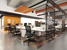 Office design, open space office, corporate office design, small office, co Corporate Office Design, Design Studio Office, Office Space Design, Modern Office Design, Workspace Design, Office Workspace, Office Interior Design, Office Interiors, Open Space Office