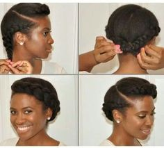 Cute natural hair updo