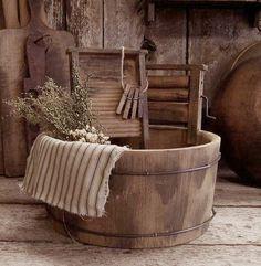Vintage washtub and washboards