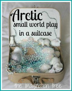 Dinosaur Small World Play in a Suitcase - The Imagination Tree Dinosaur Small World, Small World Play, Sensory Boxes, Sensory Play, Sensory Tubs, Diy Gifts To Make, Gifts For Kids, Winter Activities, Activities For Kids