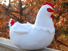 ikat bag: Chicken