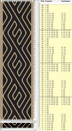 28 tarjetas, 2 colores, repite cada 16 movimientos // sed_427 diseñado en GTT༺❁