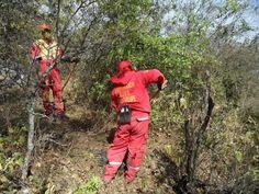 Protección Civil Guadalupe, Nuevo León Holster equipado EMS durante un incendio forestal. EMS México     Equipando a los Profesionales