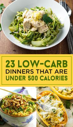 23 Low-Carb Dinners Under 500 Calories That Actually Look Good AF - Recipe - Kalorienarme Rezepte Dinners Under 500 Calories, Low Calorie Dinners, No Calorie Foods, Low Calorie Recipes, Healthy Dinner Recipes, Diet Recipes, Healthy Snacks, Healthy Eating, Healthy Low Calorie Dinner