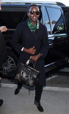 Lupita Nyong'o in her Miu Miu Biker Bag