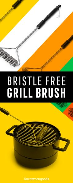 Get ready for a summer-time BBQ using our bristle free grill brush.