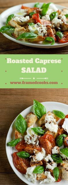 Shake up your favorite summer salad with this recipe for a roasted version of caprese salad that adds bread and ricotta to the mix!