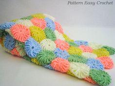 Baby Blanket. Crochet Pattern Baby Blanket. Yo Yo Puff Pattern Blanket. Gift for Newborn.. $5.50, via Etsy.