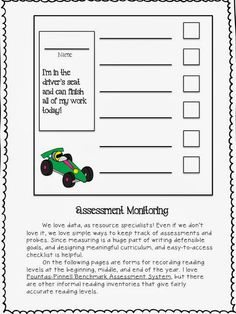 Students on the autism spectrum, and students with ADD may benefit from a checklist posted on their desk, where they can check of activities as they complete them.  Read~Write~Create