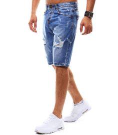 Pánske džínsové modré šortky