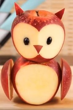 Fruit Art Kids, Food Art For Kids, Fruit Crafts, Food Crafts, Fruit Decorations, Food Decoration, Food Design, Owl Food, Deco Fruit