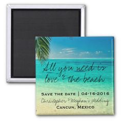 Love and The Beach Wedding Save Date Magnets SOLD, thank you to the customer in Florida