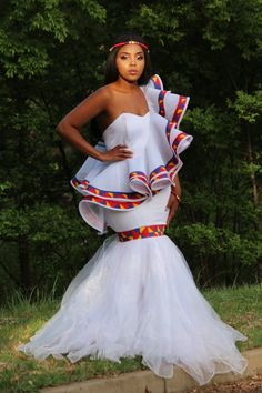 African Print Wedding Dress, African Wedding Attire, African Attire, Best African Dresses, African Print Dresses, African Fashion Dresses, African Prints, South African Traditional Dresses, Traditional Wedding Dresses